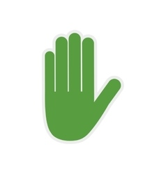 Hand green palm gesture icon graphic vector