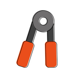 hand grip sports icon image vector image