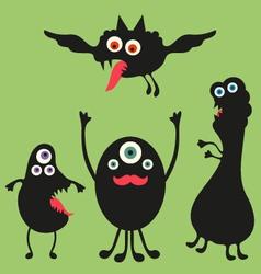 Happy monsters - Set 2 vector image