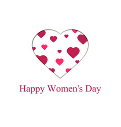 Happy women day 8 march mothers day greeting vector