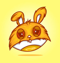 head rabbit vector image