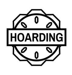 Hoarding stamp on white vector