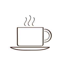 isolated abstract coffee mug icon vector image