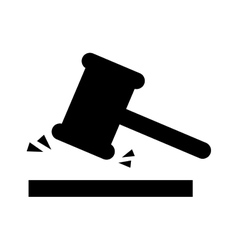 Judge gavel isolated icon design vector