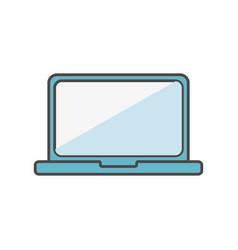 laptop computer social media icon vector image