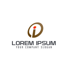 letter i logo design concept template vector image