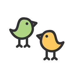 Little birds vector