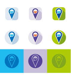 location and social media icon vector image