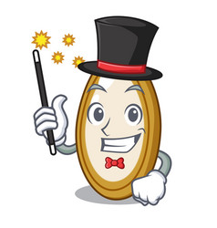 Magician fruit pumpkin seed isolated on mascot vector