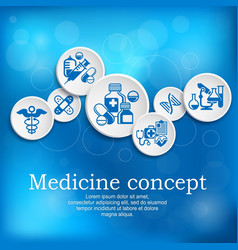 medical concept medicine vector image