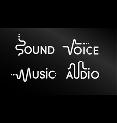 Modern logo set music app creative vector