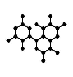 Molecule DNA Structure Icon vector