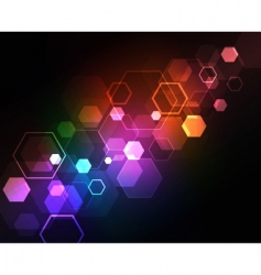neon squares design vector image