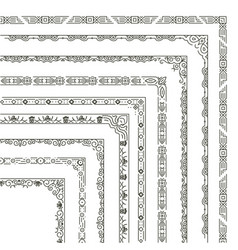 Ornamental frame corners and borders vector