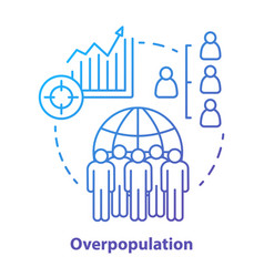overpopulation concept icon planet overcrowding vector image
