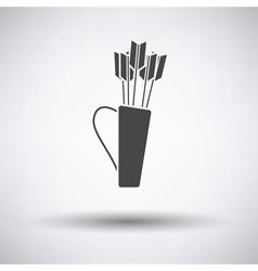 Quiver with arrows icon vector