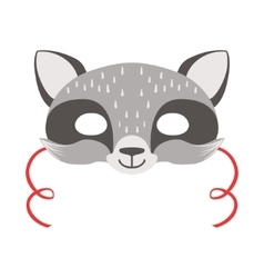 Raccoon Animal Head Mask Kids Carnival Disguise vector