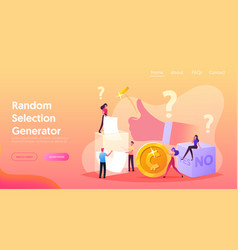 Random selection landing page template tiny vector