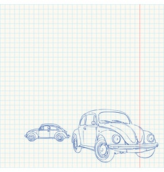Retro Car Drawing vector image