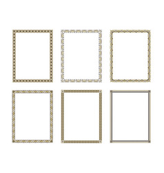 set luxury decorative frame vector image