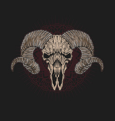 skull lamb artwork mandala background vector image