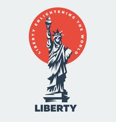 statue liberty flat vector image