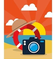 Summer vacation travel vector