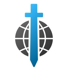 Sword Globe Gradient Icon vector