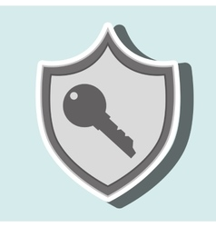 symbol key safe yellow bakcground vector image