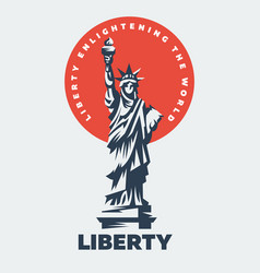 The statue of liberty flat vector