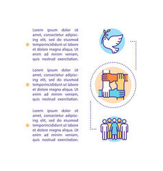 Three generations human rights concept icon vector