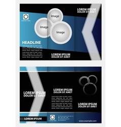 Tri-fold Brochure Layout Design Template vector
