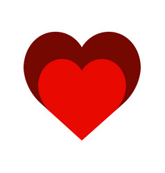two hearts colored style icon very simple vector image