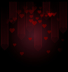 valentines day background with hearts from dots vector image