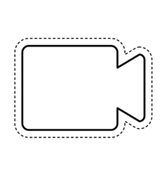 video cam isolated icon vector image