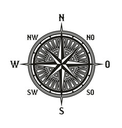 vintage navigation compass icon isolated vector image
