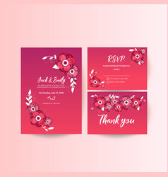 Wedding collection spring ornament concept vector