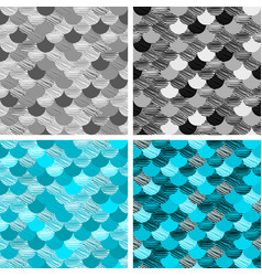 abstract colorfull wave seamless pattern the vector image