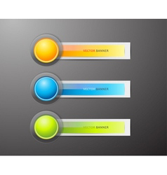 Buttons and labels vector image