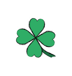 clover luck leaf vector image