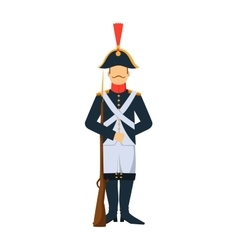 French troop old style armed forces man with vector