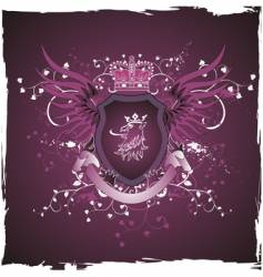 griffin's head emblem vector image