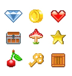 pixel objects for game vector image