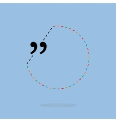 quotation marks with thin line speech vector image