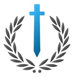 Sword honor embleme gradient icon vector