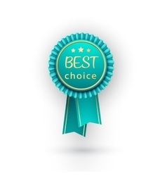 best choice blue label with ribbons vector image