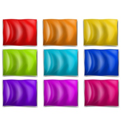 Colourful flags vector image vector image