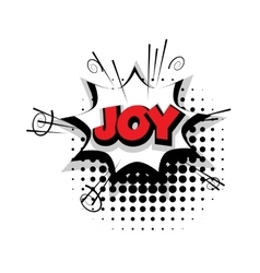 Comic text joy sound effects pop art vector image