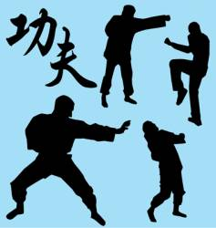 kung Fu vector image vector image