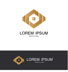 polygon house abstract logo vector image vector image